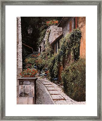 La Fontanella Framed Print by Guido Borelli