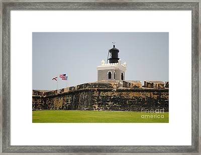 La Fortaleza Light Tower Framed Print