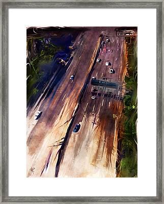La Freeway Framed Print