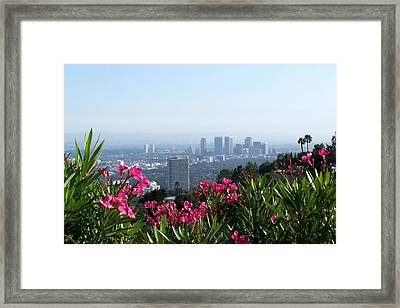 Framed Print featuring the photograph L.a. From Beverly Hills by Dany Lison