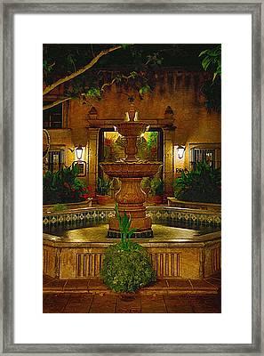 La Fuente At Tlaquepaque Framed Print