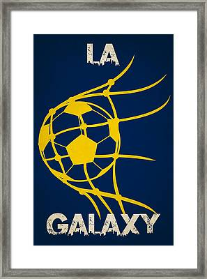 La Galaxy Goal Framed Print by Joe Hamilton