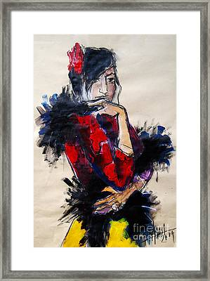 La Gitane - Pia #1 - Figure Series Framed Print by Mona Edulesco