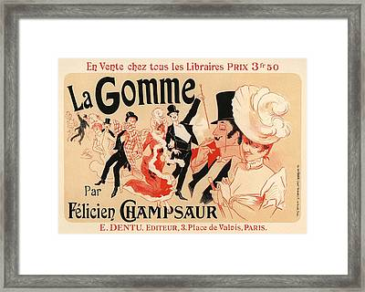 La Gomme Framed Print by Gianfranco Weiss
