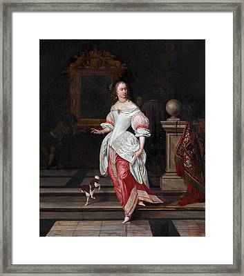La Grande Dame Framed Print by Eglon van der Neer