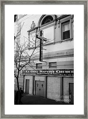 La Gree Baptist Church Harlem Former West End Theatre 125th Street New York City Framed Print by Joe Fox