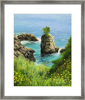 La Grotta - Island Of Corfu Framed Print by Kiril Stanchev