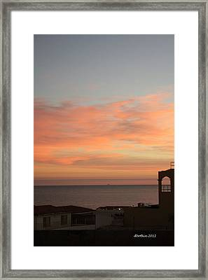 Framed Print featuring the photograph La Hacienda Sunrise by Dick Botkin