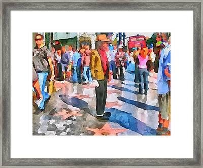 La Hollywood Alley Artists Framed Print by Yury Malkov