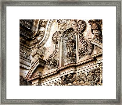 Framed Print featuring the photograph La Iglesia De La Compania  Quito Ecuador by Eleanor Abramson
