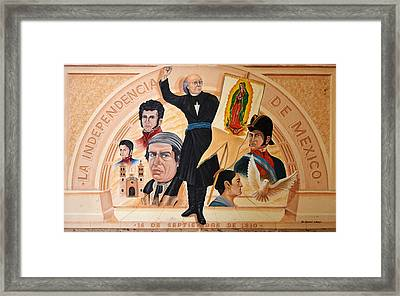 La Independencia De Mexico Framed Print