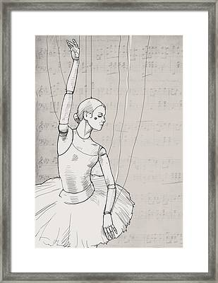 La Jolie Petite Marionnette. Framed Print by H James Hoff