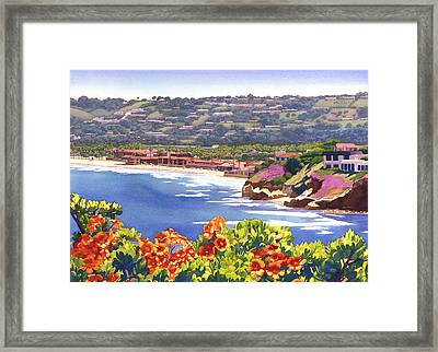 La Jolla Beach And Tennis Club Framed Print by Mary Helmreich
