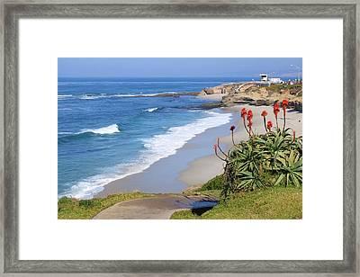 La Jolla Beach Framed Print