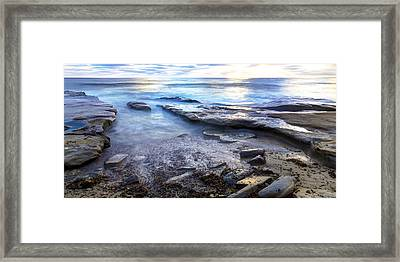La Jolla Blue Water Framed Print