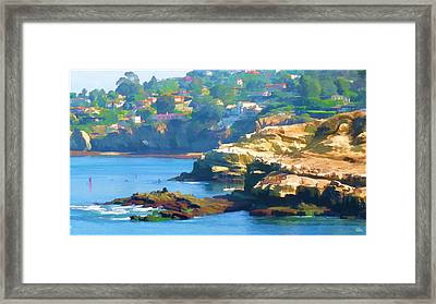 La Jolla California Cove And Caves Framed Print