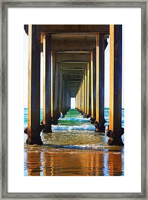 La Jolla California Pier Framed Print by Christine Krainock