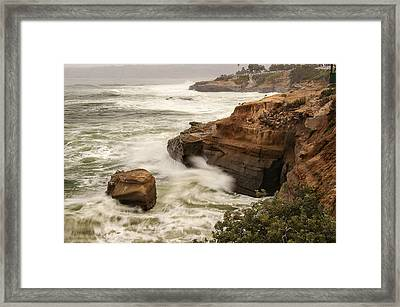 Framed Print featuring the photograph La Jolla Cove 1 by Lee Kirchhevel