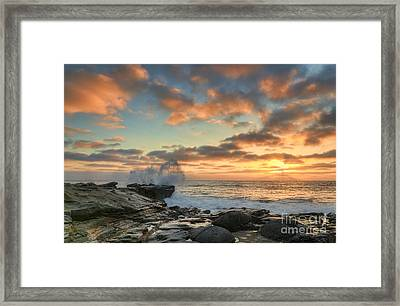 La Jolla Cove At Sunset Framed Print by Eddie Yerkish