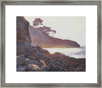La Jolla Light Framed Print by Anna Rose Bain