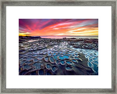 Framed Print featuring the photograph La Jolla Potholes by Robert  Aycock