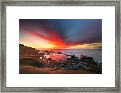 La Jolla Reef Sunset 13 Framed Print by Larry Marshall