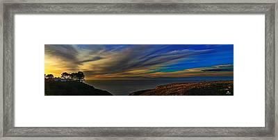 La Jolla Scripps Estate Framed Print