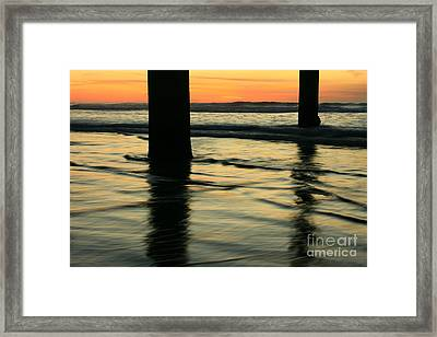 Framed Print featuring the photograph La Jolla Shores Sunset by John F Tsumas