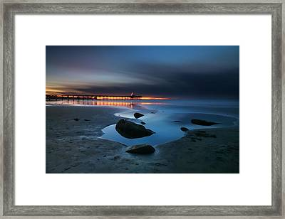 La Jolla Sunset 7 Framed Print by Larry Marshall