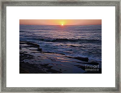 La Jolla Sunset Reflection Framed Print