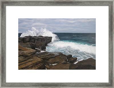 La Jolla Waves Framed Print by Gwendolyn Hope-Battley