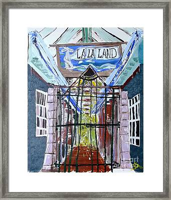 Framed Print featuring the painting La La Land  by Leslie Byrne