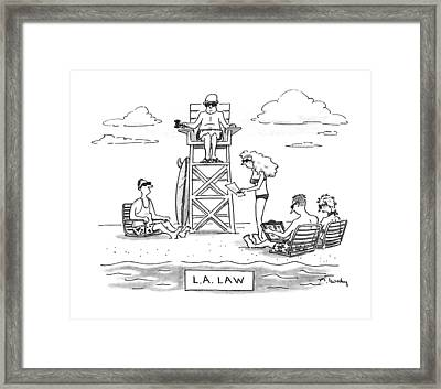 L.a. Law Framed Print by Mike Twohy