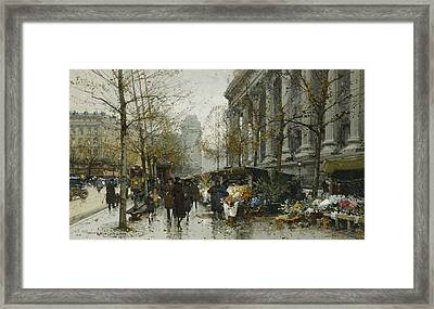 La Madelaine Paris Framed Print by Eugene Galien-Laloue