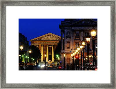 La Madeleine At Night Framed Print by Colin Woods