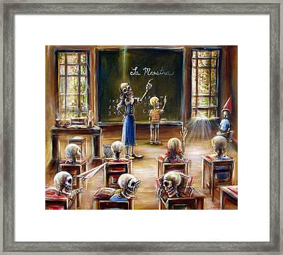 La Maestra Framed Print by Heather Calderon