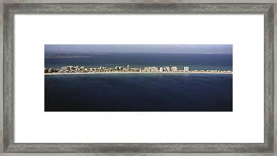 La Manga Del Mar Menor, Murcia Framed Print