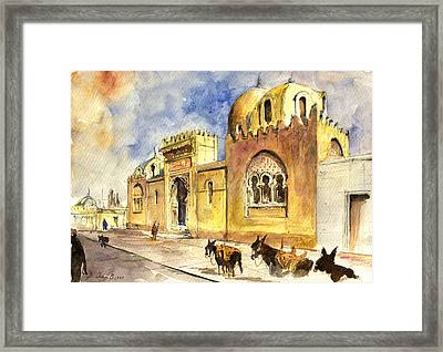 La Medersa School Casbah Framed Print by Juan  Bosco