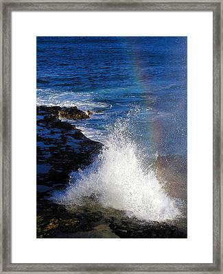 Hawaiian Rainbow Framed Print