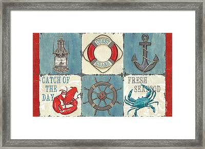 La Mer Collage Framed Print