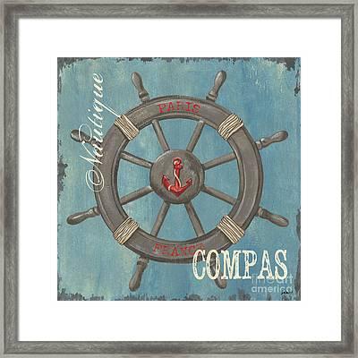 La Mer Compas Framed Print by Debbie DeWitt