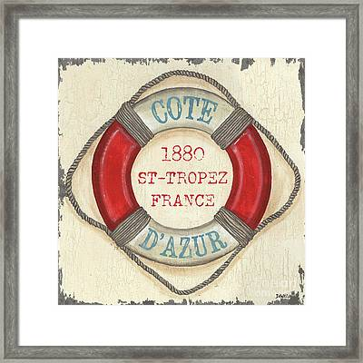 La Mer Cote D'azur Framed Print by Debbie DeWitt