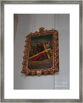 La Merced Via Crucis 3 Framed Print