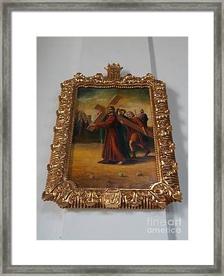 La Merced Via Crucis 5 Framed Print