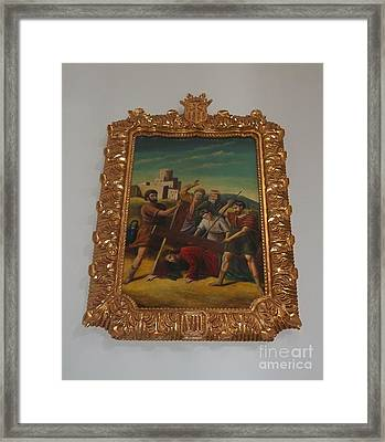 La Merced Via Crucis 7 Framed Print