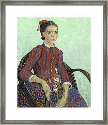 La Mousme Framed Print by Vincent van Gogh