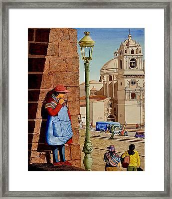 La Mujer Misteria Framed Print by Andre Salvador