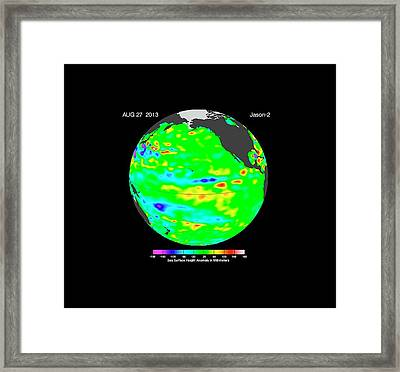 La Nada Climate Pattern Framed Print by Nasa-jpl/caltech/ocean Surface Topography Team
