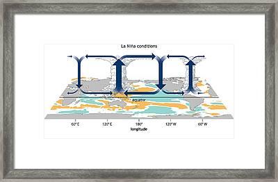 La Ni�a, Walker Circulation Anomaly Framed Print