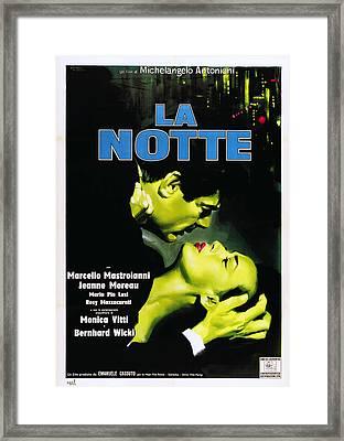 La Notte, Italian Poster Art, From Left Framed Print by Everett